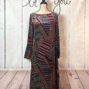 Sundance Silk Blend Multicolor Velvet Dress Small